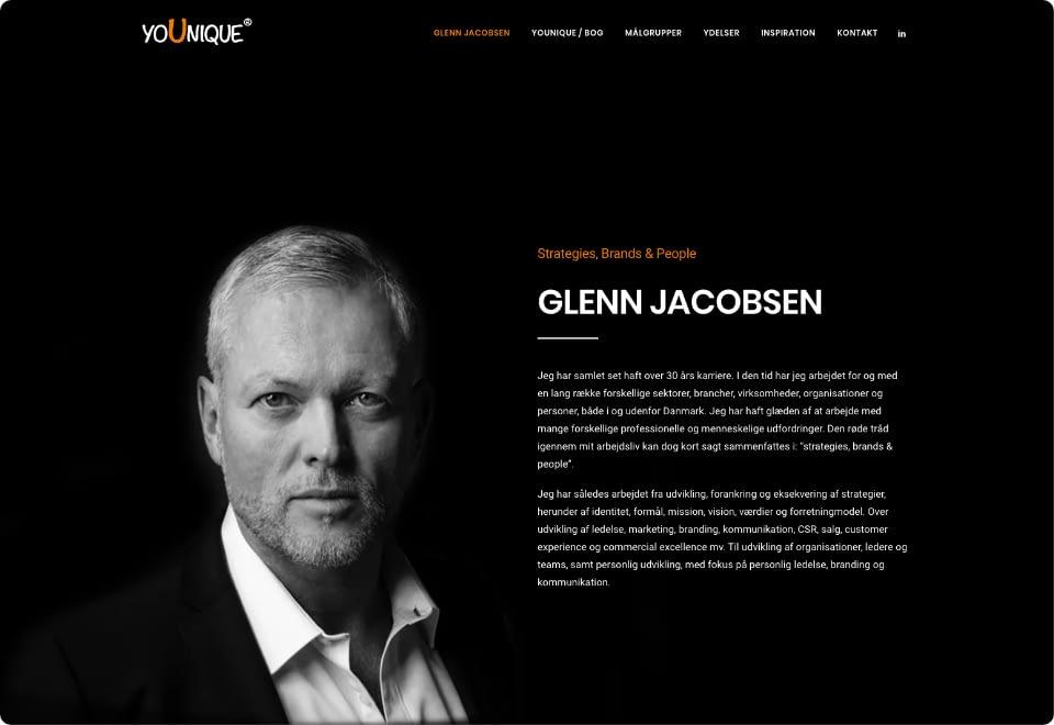 Glenn Jacobsen - About Page